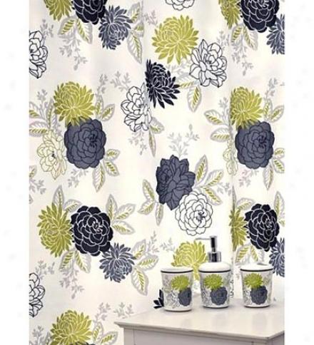 16-piece Cheri Floral Shower Curtain And Bath Acccessories Set