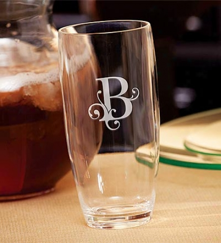 20 Oz. Single Initial Monogrammed Acrylic Highball Tumbler