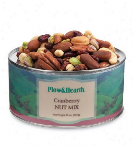 20 Oz. Tin Of Cranberry Nut Mix