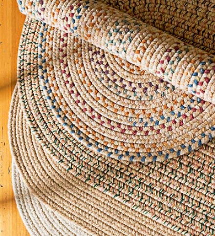 2' X 3' Wool Mingle Braided Rug