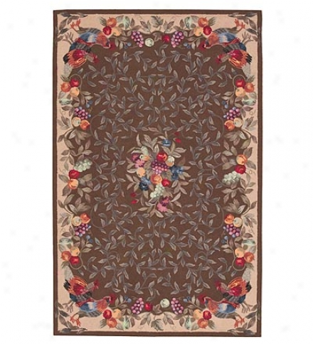 "2'6"" X 4'2"" Wool Ptit Hook Fruit And Vines Rugcompare At $128.95!"