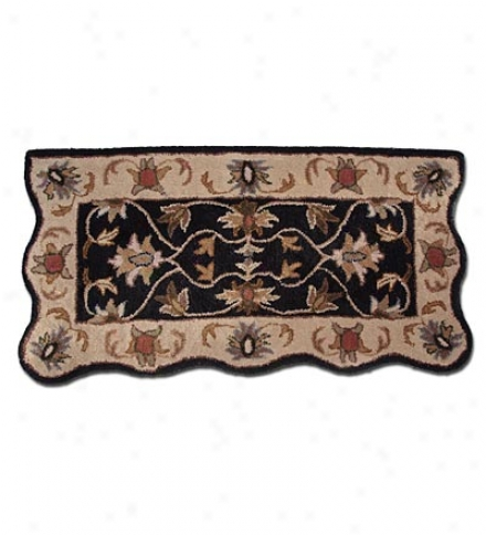 """21"""" X 42"""" Rectangular Hand-tufted Wool Scalloped Hearth Rugcompare At $79.95!"""