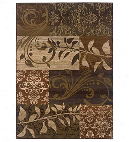 2.3' X 7.6' Odyssey Ferns Cross-woven, Wool-look Polypropylene Area Rug