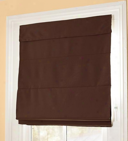 "23"" X 72"" Machine Washable Cord-free Insulated Roman Shade"