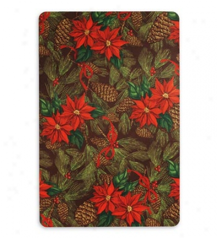 "23""w X 40""l Half-round Eqsy-care Low-profile Polyssster Holiday Mat"