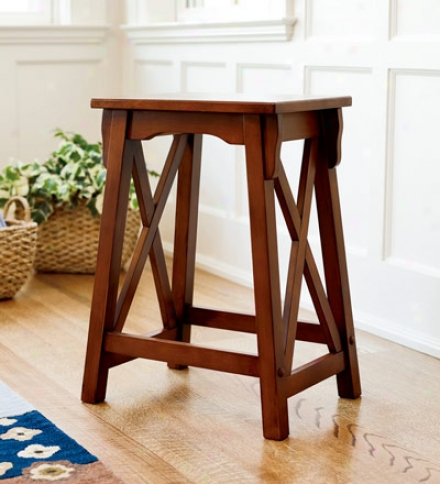 "24"" Handcrafted Newport Hardwood Counter Stool"