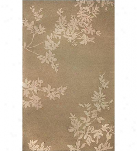"24"" X 36"" Polypropylene Mingle Spello Leaves Indo0r Outdkor Rug"