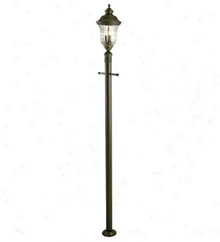 3-light Lantern-style Outdoor Appendix Light, Post Light And Lamp Post