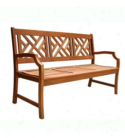 3-seater Forest Stewardship Council Certified Eucalyptus Chippendale Bench