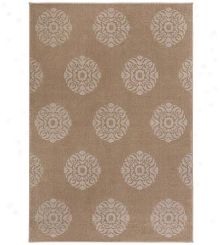 "3'10"" X 5'5"" Medallion Polypropylene Area Rug"