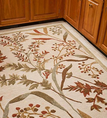 "3'6""w X 5'6""l Willow Branch Indoor/outdoor Rug"