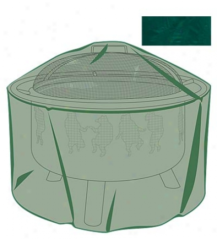 """32"""" Dia. X 18""""h Outdoor Furniture All-weather Fire Pit Cover"""