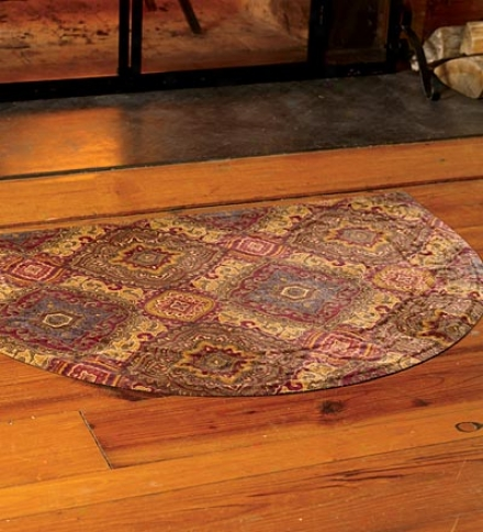 "34""  X 68"" Scroll Border Microfiber Rug Runner"