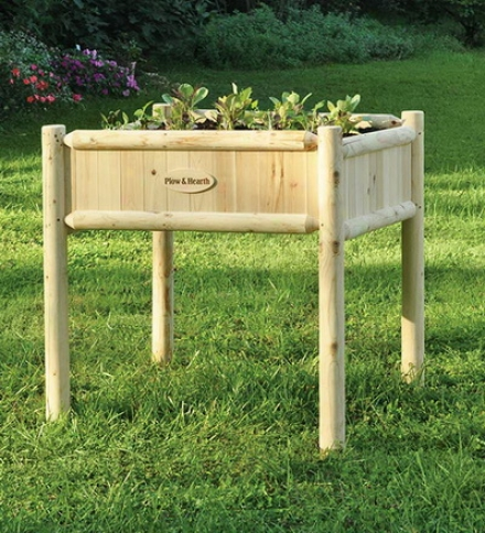 "36"" Sq. X 36""h Durable Wood Raised Bed Planter"