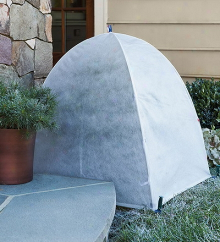 "36"" Sq. X 40""h Nylon-coversd Fiberglass Frame Frost Dome Covers For Plants"