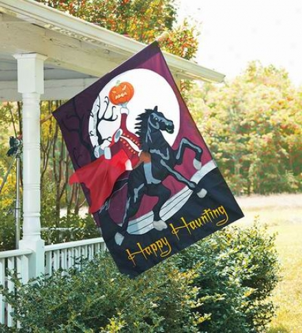 "36""w X 54""l Oversized Embellished Halloween Banner"