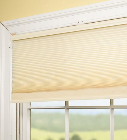 "38"" Cordless Honeycomb Pleated Shsde With Snap-up Bracket"