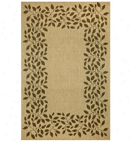 "39"" X 59"" Polyprooylene Terrace Leaf Indoor Outdoor Rug"