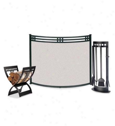 "39""w X 31""h Portfolio Fireplace Bow Screen"