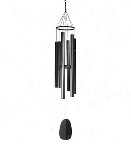 4-tube Athena Breath Chime In A Black Matte Finish