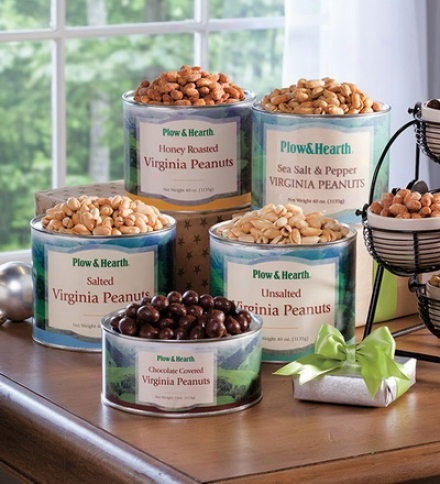 40 Oz. Tin Virginia Extra Large Peanuts - Available In Salted, Unsalted, Sea Salt & Pepper Or Honey Roasted