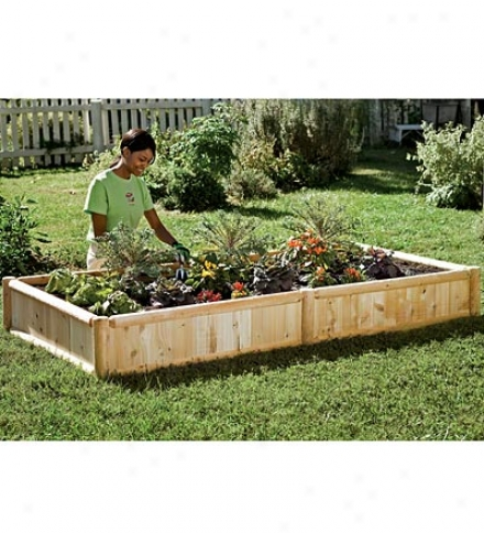 4' X 4' Hardwood Raised Bed Garden Kit