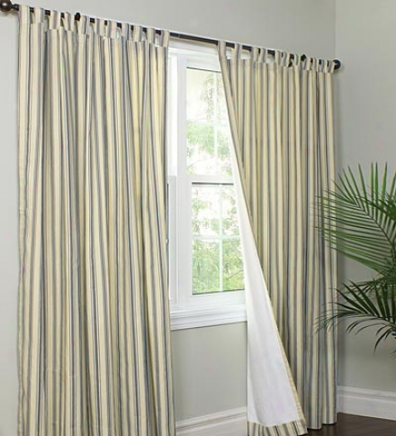 "40"" X 15"" Thermalgic??? Energy Efficient Insulated Tab-top Triple Stripe Valance"
