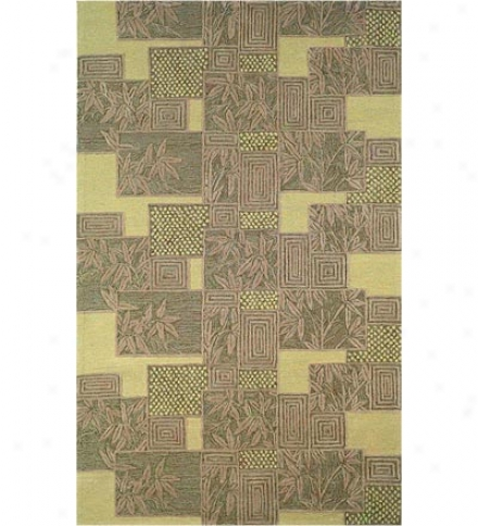 "42&quit; X 66"" Polypropylene Blend Bamboo Indoor Outdoor Rug"