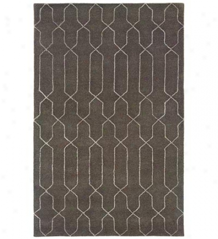 5' X 8' Hand-tufted Wool Blend Geometric Silhouette Area Rug