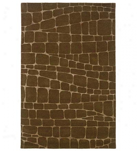 5' X 8' Hand-tufted Wool Blend Safari Silhouette Area Rug