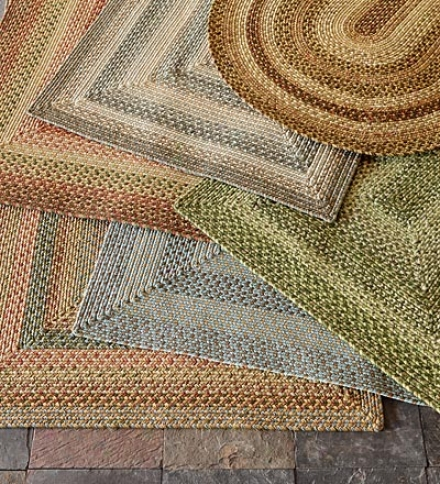 5' X 8' Rectangle Indoor/outdoor Polypropyl3ne Braided Rug