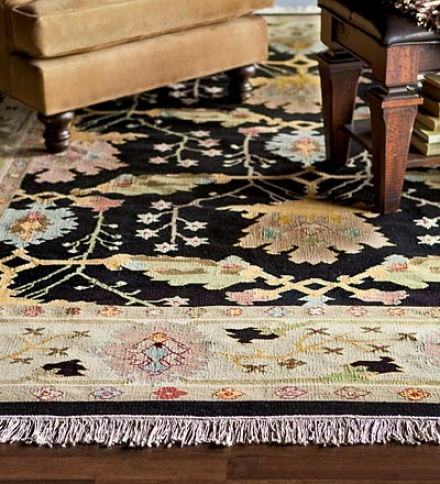 "5'6"" X 8'6"" Classic Flat-weave Tapeqtry 100% Wool Kilim Area Rug With Fringecompare At $769.95!"