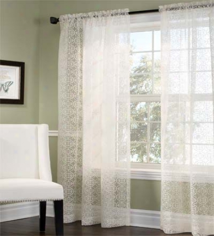 "54""w X 84"" Ellington Semi-sgeer Rod Pocket Curtain Panels"