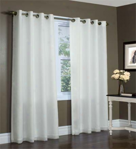 "54""w X 95"" Thermovoile Lined Grommet-top European-style Voile Panels"