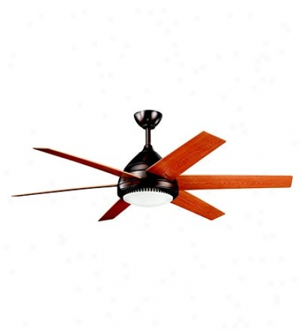 "56"" Modern 6-blade Ceiling Fan With Cased Opal Glass Shade"