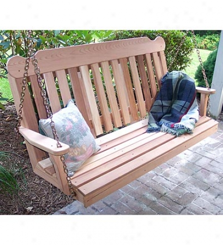 6-ft. Usa-made Western Red Cedar Porch Swing