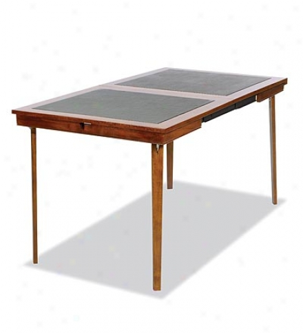 6-person Folding Extending Card Table With Hardwood Veneers And Vinyl oTp