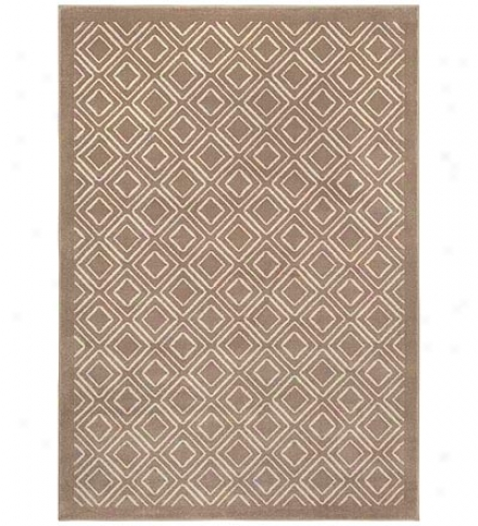 "6'7"" X 9'6"" Diamond Polypropylene Area Rug"