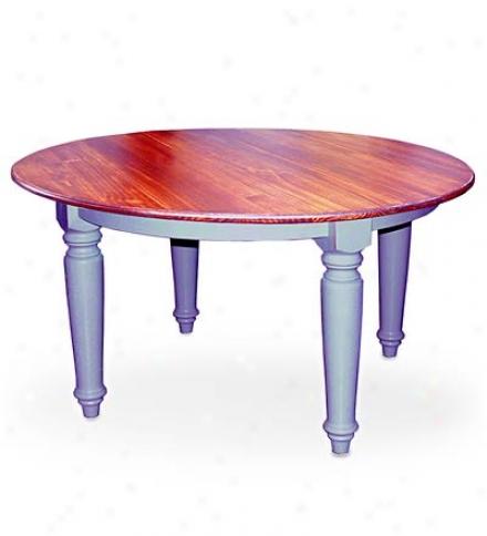 "60"" Round Plank Top Farmhouse Table"