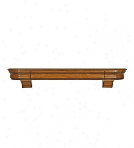 "6O""w Wood Abingdon Mantel Shelf Wi5h Storage Drawer"