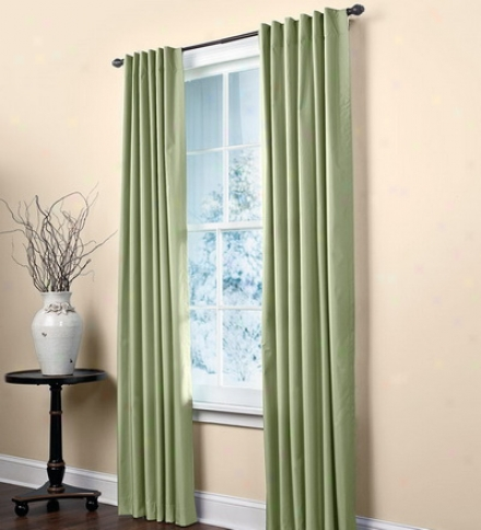 "63""l Insulated Thermal Pleated Prima Curtain Panels With Attached Slider Wand"