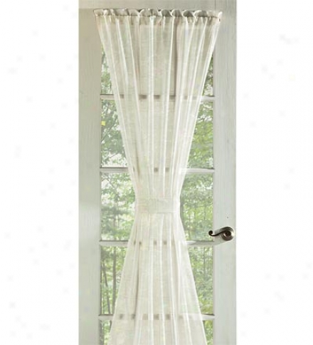 "63""l Window Pane Voile Window Sheers"