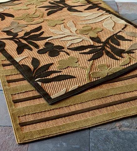 "6'3&uqot; X 9'2"" Outdoor And Indoor Textured Polypropylene Rug"