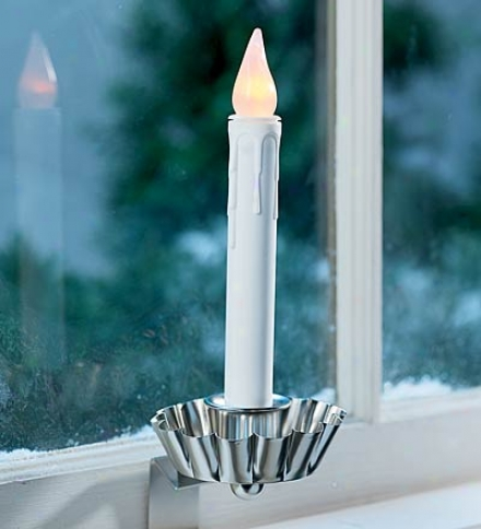 "7-1/2""h Battery-powered Colonial Window Candle"
