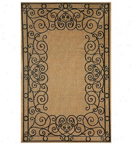 "7'10"" Square Tropez Wrought Iron Border Indoor/outdoor Area Rug"