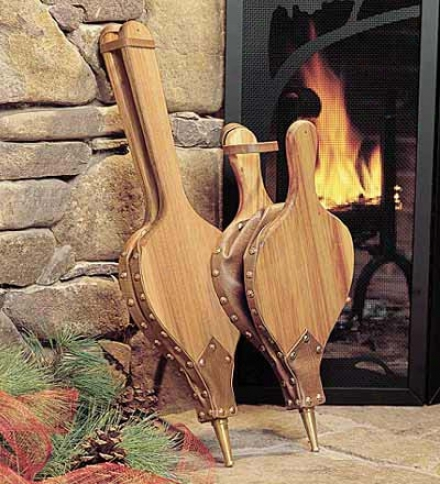 """8-1/2""""w X 18""""l Amerocan-made Black Willow Hardwood Bellows With Hand-rubbed Oil Finish"""