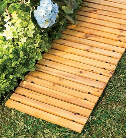 8' Weather-resistant Straight Cedar Patwhay