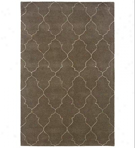 8' X 10' Hand-tufted Wool Blend Argyle Silhouette Area Rug