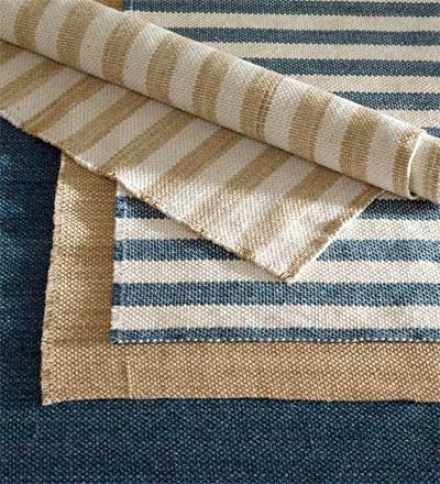 8' X 11' Reversible Wool Blended Rug