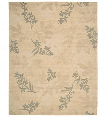 8' X 11' Skyland Large Print Ferns And Flowers Rug